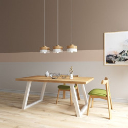 Industrial Dining Table L130-220, WH