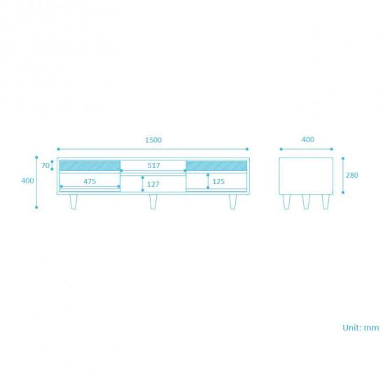[Final Sale] Double Dip TV Board W150-W200 Mixed