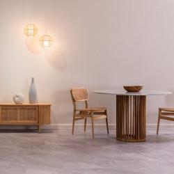 SEN Rattan Dining Chair, Natural Ash