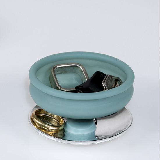 POD holder aqua gold, rose gold steel base