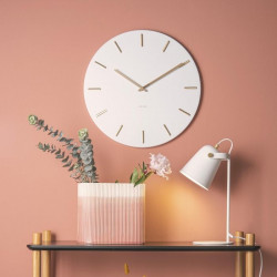 Wall Clock Charm - white steel