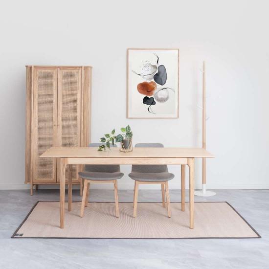 SEN Extendable Table L140-180, Walnut Brown