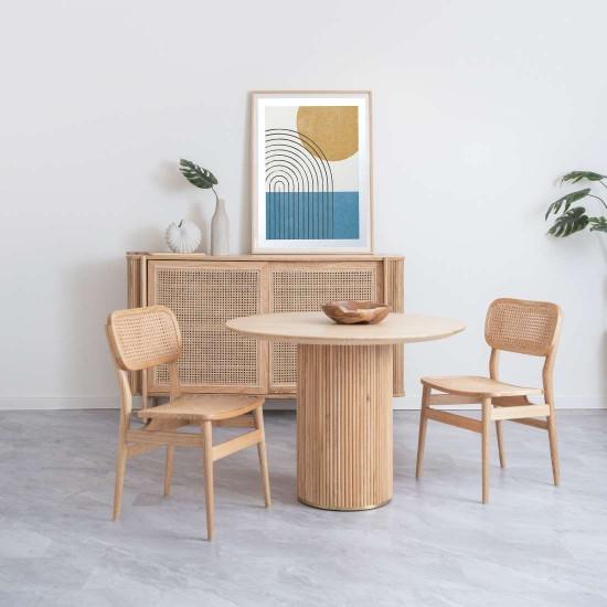 SEN Round Table, Walnut Brown