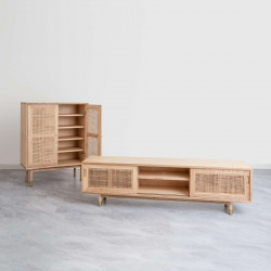 SEN RATTAN TV Cabinet L180, Natural V.2