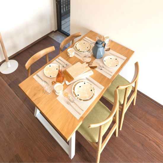Industrial Dining Table L140, WH [Display]