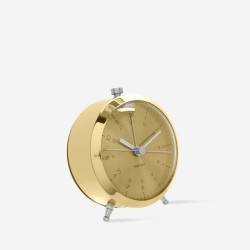 Alarm Clock Button  - Brass Plated