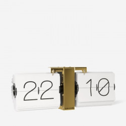 Flip Clock No Case - White