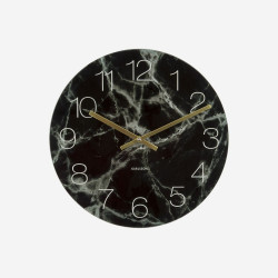 [SALE] Glass Clock Marble - Black