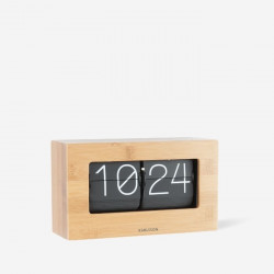 Flip Clock Boxed - Bamboo