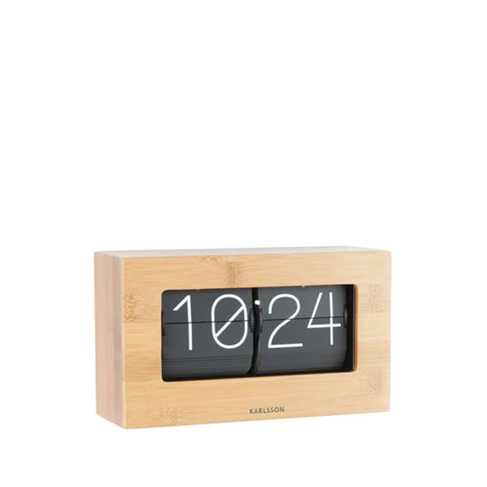 Table Clock Boxed Flip - Oak
