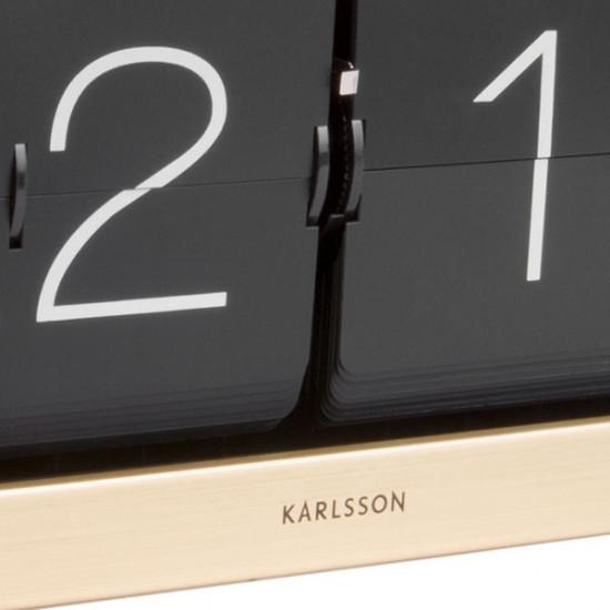 Clock Boxed Flip Clock XL - Gold