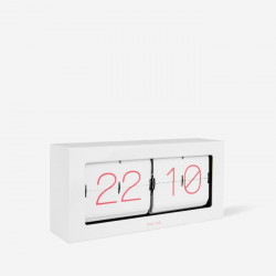 Boxed Flip Clock XL - White
