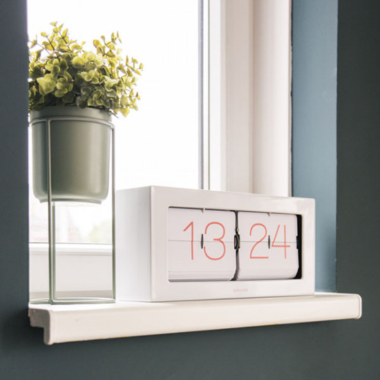Boxed Flip Clock XL - White