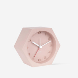 Alarm Clock Hexagon Concrete Pink [Display]