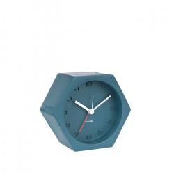 Alarm Clock Hexagon Concrete Blue