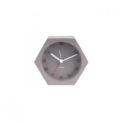 Alarm Clock Hexagon Concrete Dark Grey