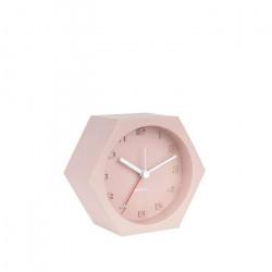 Alarm Clock Hexagon Concrete Pink