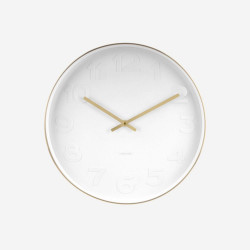 Wall Clock Mr. White - Brushed Gold