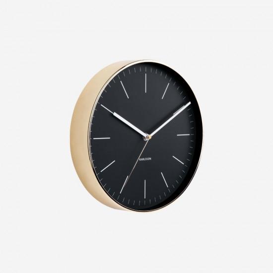 Wall Clock Minimal - Black