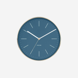 Wall Clock Minimal - Blue [Display]