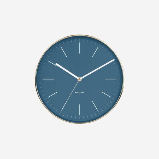 Wall Clock Minimal - Blue
