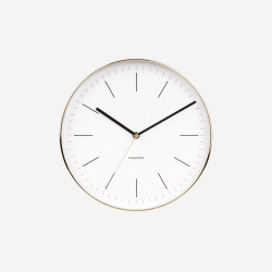 Wall Clock Minimal - White