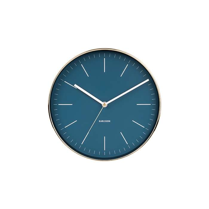 Wall Clock Minimal - Blue