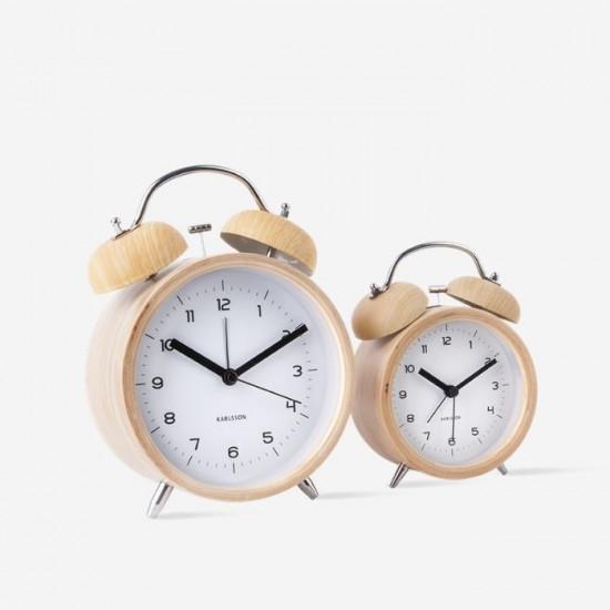 Alarm Clock Classic Bell XL - wood white