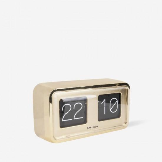 Flip Clock Bold - Gold