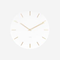 Wall Clock Charm - white steel [Display]