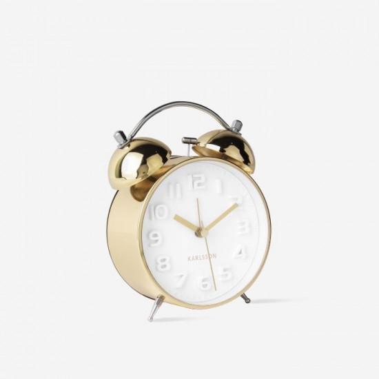 [SALE] Alarm Clock mr. White Brushed Gold Case