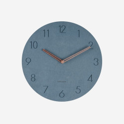 [SALE] Wall clock Dura Korean wood, Blue