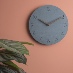 [SALE] Wall clock Dura Korean wood, Blue