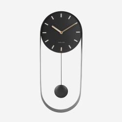 Wall Clock Pendulum Charm - steel black