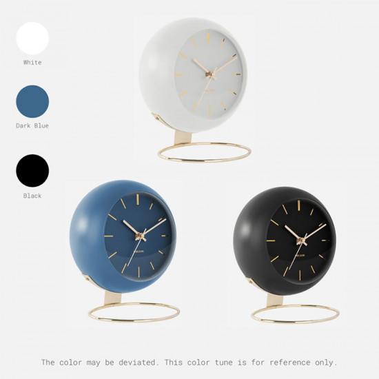 Table clock Globe - White