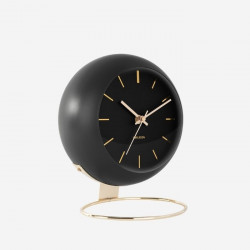 Table clock Globe - Black