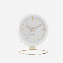 Table clock Globe - White