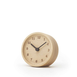MUKU desk clock - Beech