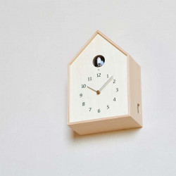 Birdhouse Clock - Natural