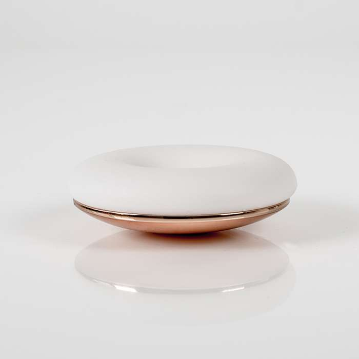POD holder white gold, rose gold steel base