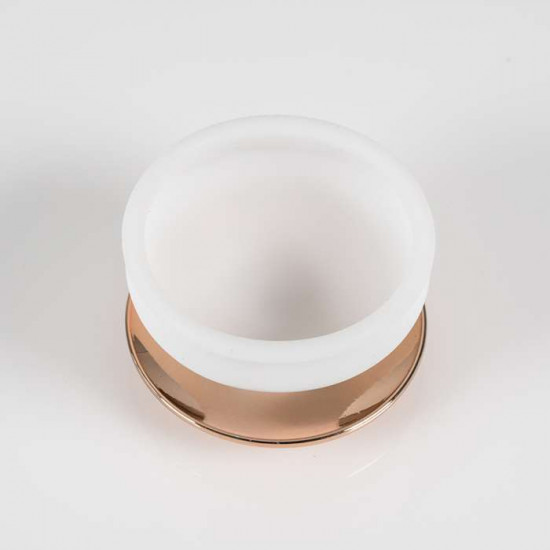 POD holder white gold, rose gold steel base