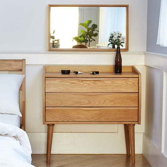 Solid Oak Wall Mirror
