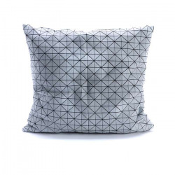 Geo origami pillow-M B&W