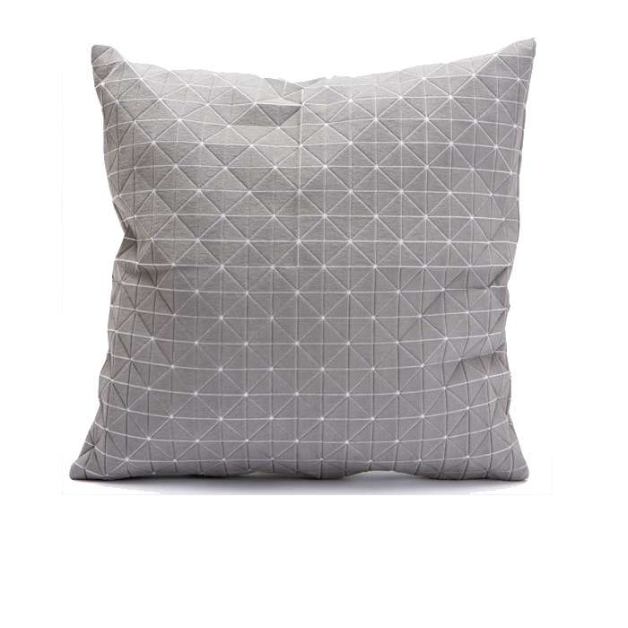 Geo origami pillow-M Grey