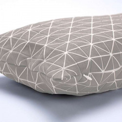 Geo origami pillow-S Grey