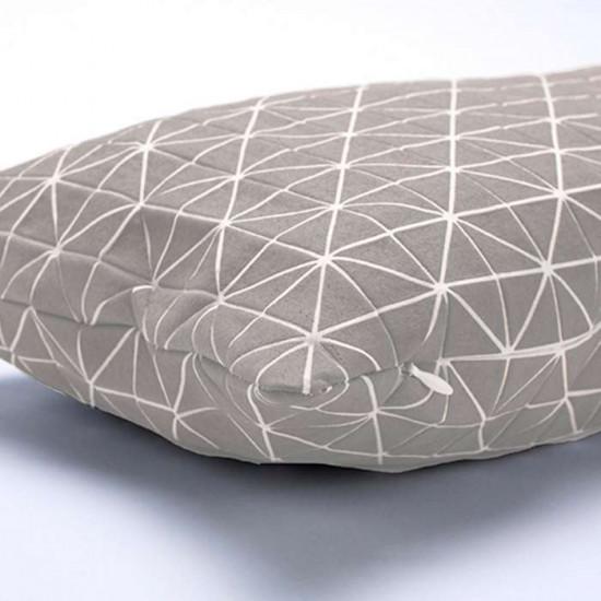 Geo origami pillow-S Grey
