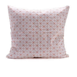 Geo origami pillow-M Orange