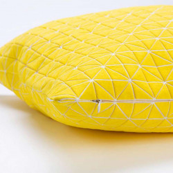 Geo origami pillow-M Yellow