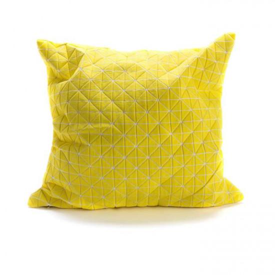 Geo origami pillow-M Yellow