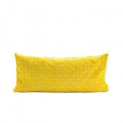 Geo origami pillow-S Yellow